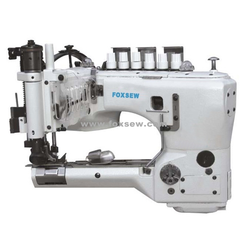 High-speed Feed-off-the-Arm Double Chainstitch Lap Seaming Machine