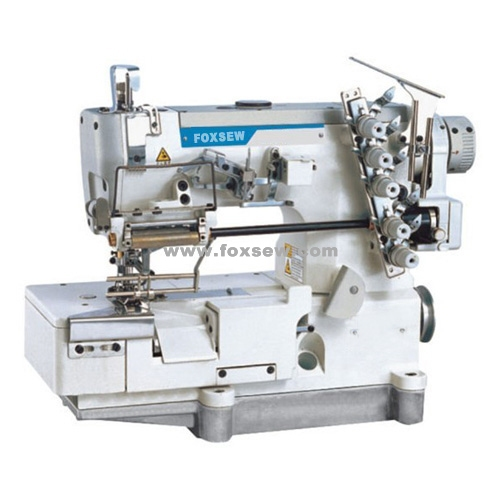 Elastic Lace Attaching Interlock Sewing Machine with Edge Trimming