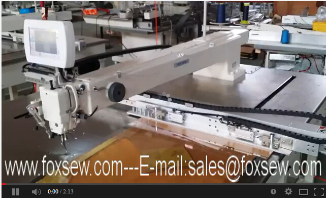 Programmable Pattern Sewing Machine for Leather and Fabric Upholstery